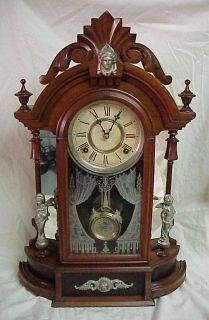 Gilbert Mirrorside Parlor Clock  Extra Nice ansonia seth thomas