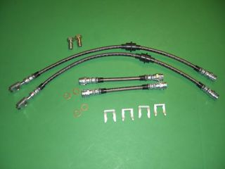 VW MK4 Golf Jetta 99 05 Stainless Brake Line Hose Kit