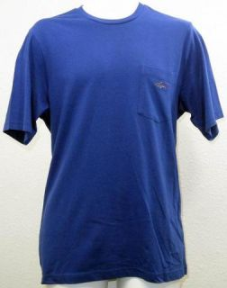 Greg Norman for Tasso Elba Mens Essential Blue Short Sleeve T Shirt