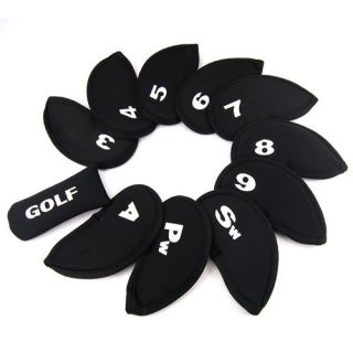USA 11 Pcs Red Golf Club Iron Putter Head Cover Headcovers Protect Set