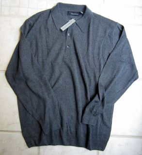 Greg Norman Golf Polo Collar Sweater Size Large Gray
