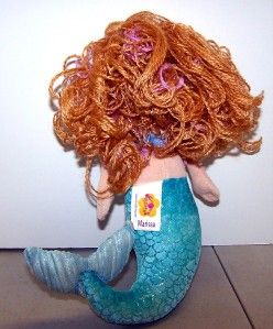 Groovy Girls RARE Mermaid Plush Doll Marissa Blue Star Velvet Soft