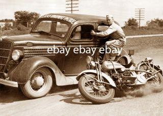 Texas Highway Patrol Harley Davidson Motorcycle Patrolman Gun Pistol