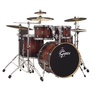 Gretsch Catalina Birch 5 Piece Drum Kit Walnut Burst with Hardware