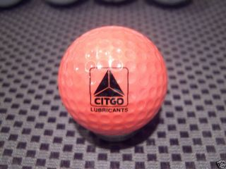 Logo Golf Ball Citgo Lubricants Orange Ball