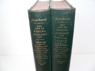 Folio Society The Life of Samuel Johnson James Boswell 2 Volume Set PT