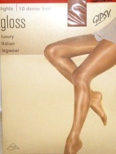 Pantyhose SHIMMERY SHEER TO WAIST Bronze Shiny STW GIPSY Tights *L