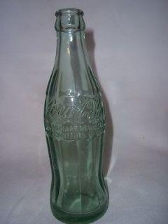 COCA COLA BOTTLE BLUE GLASS MACON MISSOURI 6 OZ SODA BOTTLE js