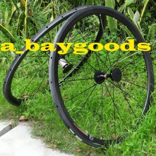 Wheelset   Full Carbon 700C Road Bike Tubular wheelset Rim hub Spoke