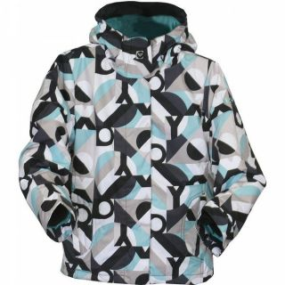 Roxy Glider Girls Ski Snowboard Jacket Black Blue Jumpstart Youth Sz