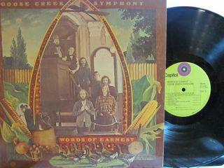 GOOSE Creek Symphony Words of Earnest Lime Capitol Label