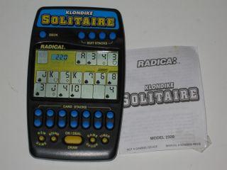 Radica Solitaire Electronic Handheld Game Hand Held Klondike Vegas