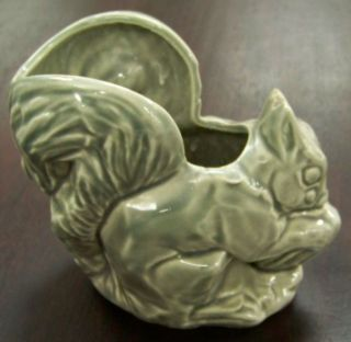 McCoy Pottery Squirrel Planter Gray Color