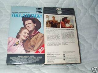 Oklahoma VHS Shirley Jones Gordon MacRae Rod Steiger