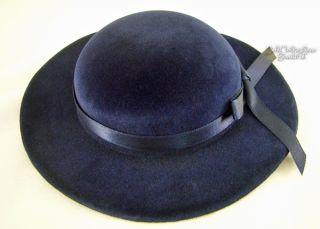 18 American Girl Navy Blue Velvet Derby Hat Huge Selection