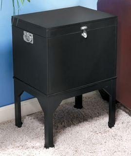Elegant Style File Cabinet Wood Furniture Black Color
