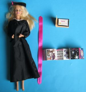 University College Graduation Barbie Doll Outfit Yearbook Sash