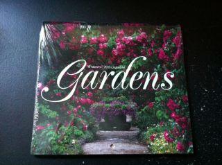 New 2013 16 Month Mini Calender Gardens