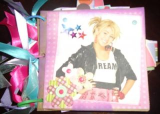 Hannah Montana Paper Bag Album Premade Scrapbook Altered Art Photo