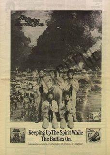 Gram Parsons Burrito Brothers LP Promo Poster Ad 1970
