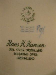 Royal Copenhagen Denmark Danish Sunshine Over Greenland 1958 Blue