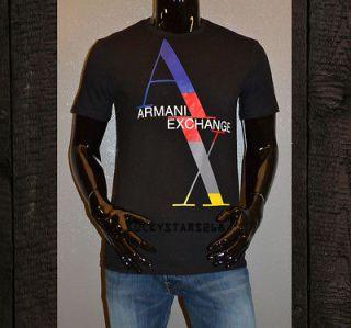 armani exchange mens short sleeve t shirt graphic tee top