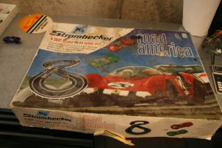Original Vintage Road America Strombecker 1 32 Scale Slot Car Set