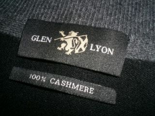 Excellent Glen Lyon Black Plaid Cashmere Zip Cardigan Sweater Jacket