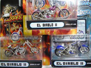 JESSE JAMES CHOPPERS MOTORCYCLE LOT OF 3 RARE MOTORCYCLES DIABLO II