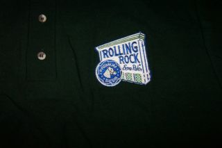 New Rolling Rock Beer Green Polo Shirt Size L Hamptons Club Staff