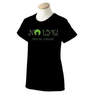 New No Lye Natural Hair T Shirt Size Womens Cut XL Black Short Sleeve