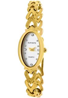 Dufonte Watch 73037YL Womens White Austrian Crystal Light Silver Dial