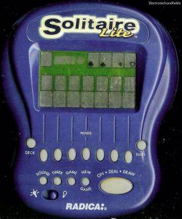 RADICA SOLITAIRE LITE ELECTRONIC HANDHELD GAME W LIGHT VEGAS CARD GAME