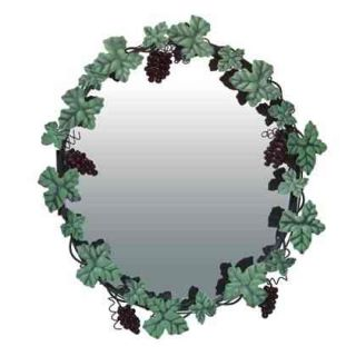 Vineyard Grapevine Wine Grapes Metal Wall Mirror New