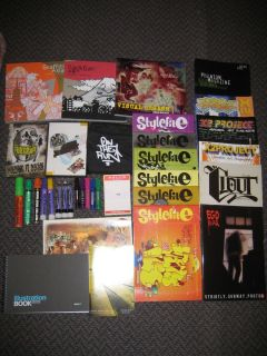 HUGE GRAFFITI LOT MARKERS MAGAZINES DVDS BOOKS ART KRYLON IRONLAK