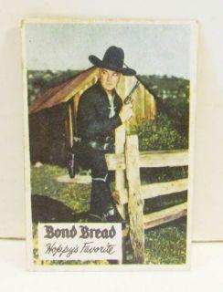 Hopalong Cassidy Hoppy 1950s Bond Bread Premium Trading Card Ways of