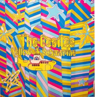 The Beatles Yellow Submarine Fabric Bathroom Shower Curtain