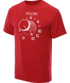 Volume 12 T Shirt Retro Funny Graphic Tee Red XL