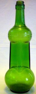 VINTAGE ANTIQUE 4 5 QUART GLENSHAW GLASS 1945 DUMBBELL LIQUOR BOTTLE