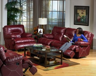 Cortez Power Reclining Sofa Loveseat and Glider Recliner Bonded