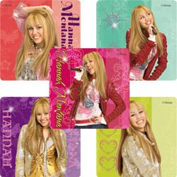 10 Hannah Montana Glitter Large Stickers Party Disney