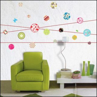 Floral Ball Art Deco Mural Wall Paper Sticker Decal 099