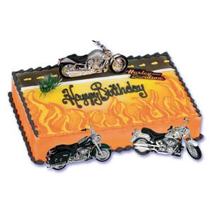 Harley Davidson Motorcycle Cake Decoration Kit New