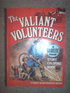 1976 Gravette Firefighter Volunteers Coloring Book RARE