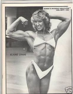 WOMENS PHYSIQUE PUBLICATION female bodybuilder magazine/ Elaine Craig