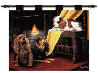 KING CHARLES CAVALIER SPANIEL DOG TAPESTRY WALL HANGING