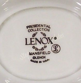 Lenox China MANSFIELD Ivory & Gold Gravy Boat w/ attached Underplate