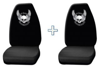 Harley Davidson Skull w Wings Universal Fit Bucket Seat Covers