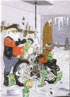 Motorcycle Christmas Greeting Cards w Harley Davidson 2