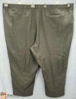 Big Mens Kings Court Gray Dress Pants Slacks Measures 62 x 28.5 #I39